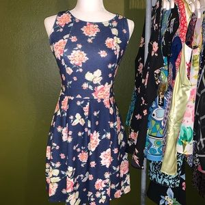 Xhilaration floral dress S